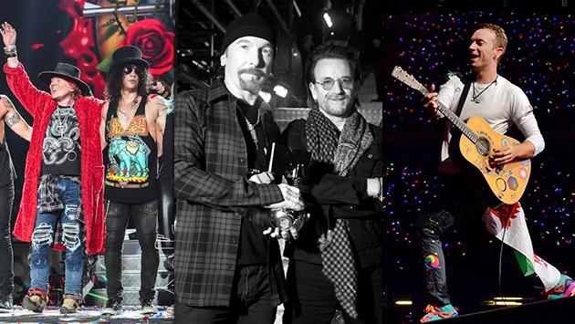 Guns N' Roses, U2 y Coldplay nominados al Billboard Music Awards 2018