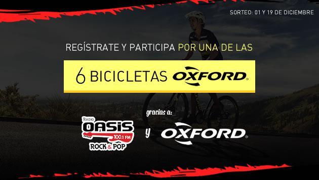 ¡Radio Oasis y Oxford Bikes regalan seis bicicletas!