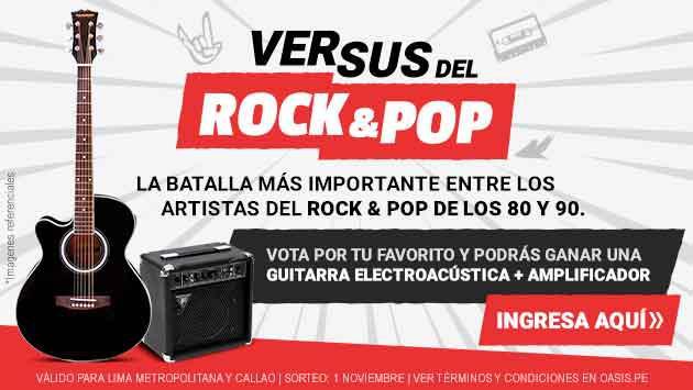 ¡Participa del Versus del Rock & Pop y gana una guitarra electroacústica + Amplificador!
