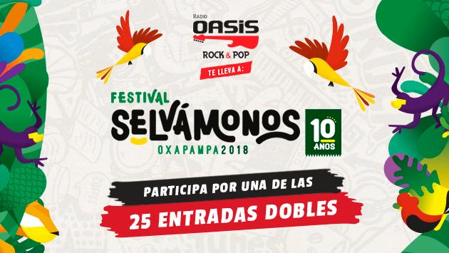 Radio Oasis te regala entradas dobles para el festival Selvámonos Oxapampa 2018
