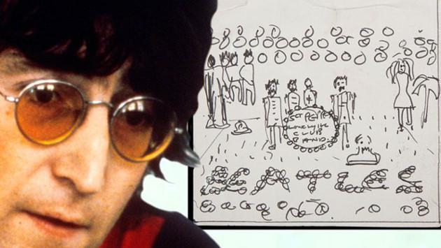 Subastarán boceto de 'Sgt. Pepper' que dibujó John Lennon para álbum
