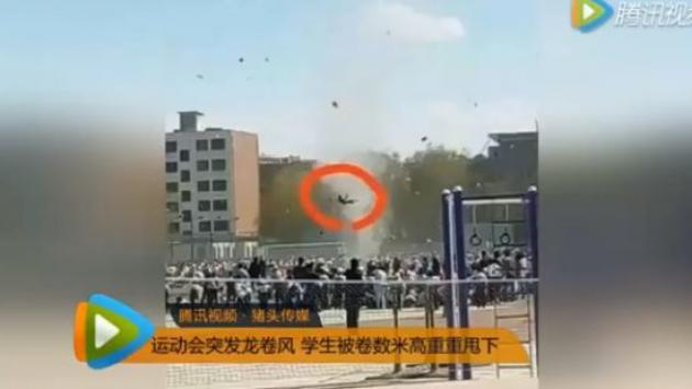 Una niña fue arrastrada por un tornado en China [VIDEO]