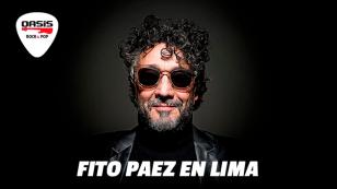 Fito Paez regresa a Lima con 'Ciudad Liberada', gracias a Radio Oasis